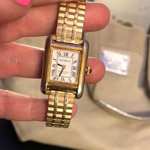 🕰✨VINTAGE GOLD STRETCH BAND CARAVELLE WATCH